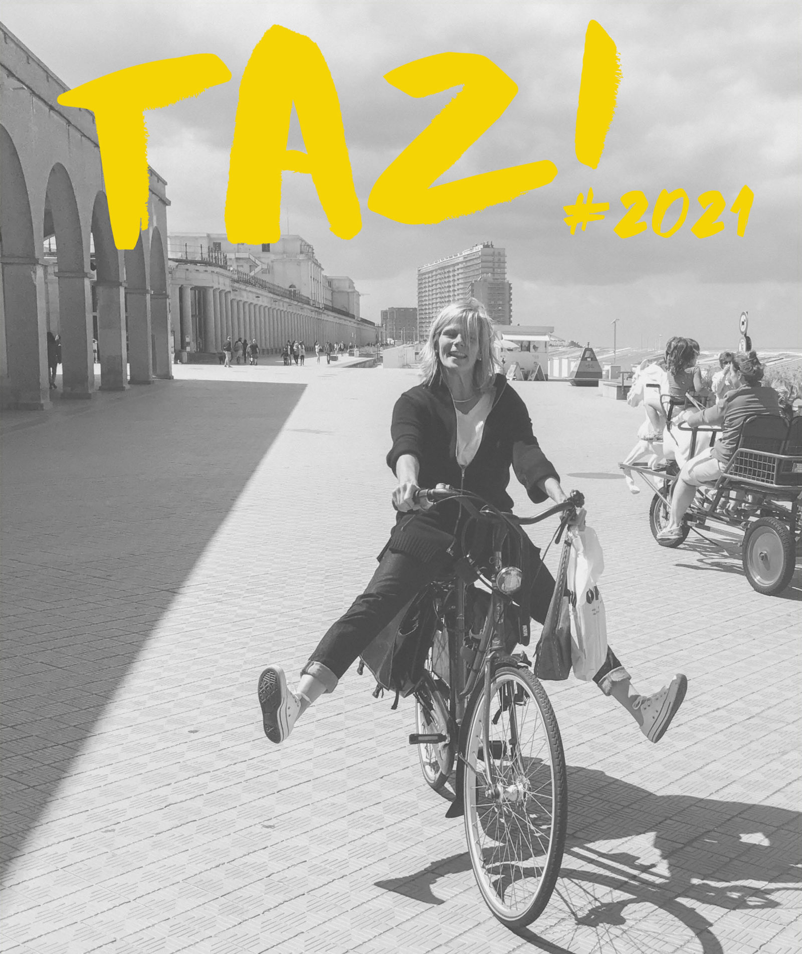 Promotional visual Theater Aan Zee with guest curator VUB Rector Caroline Pauwels